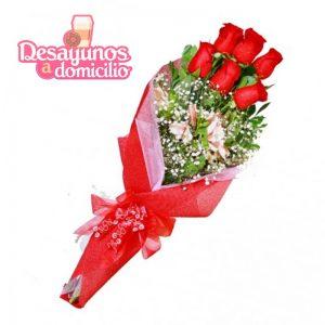 Ramo de 6 rosas